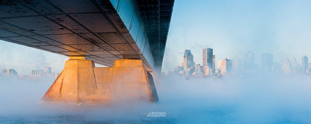 Brume hivernale sur le Saint-Laurent