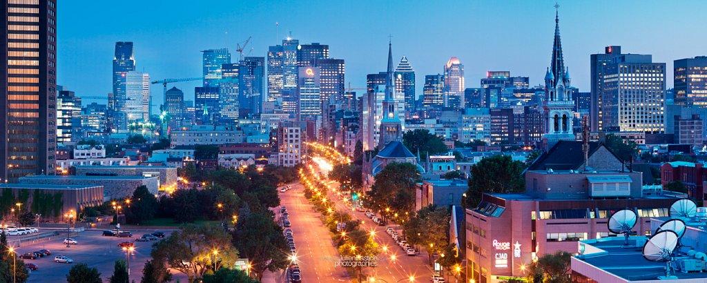 Heure bleue à Montréal