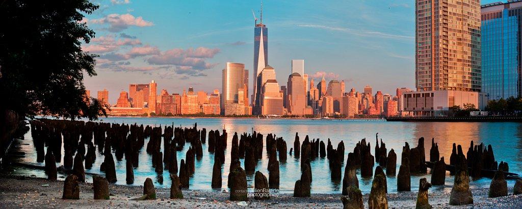 Ville de New-York depuis un ancien quai