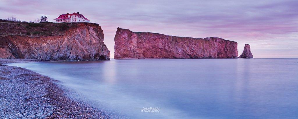 Rocher Percé au coucher de soleil