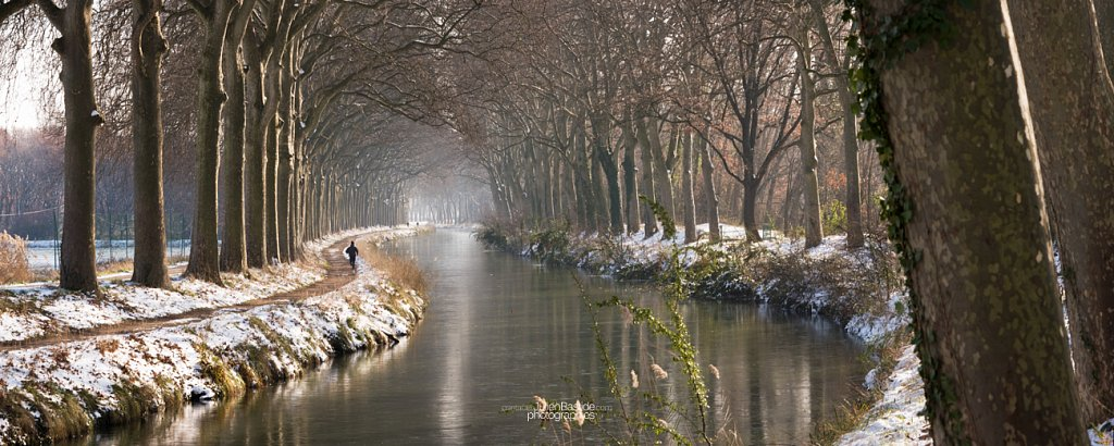 Canal du Midi sous la neige